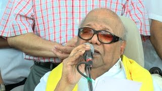At The Age Of 92, DMK Chief Karunanidhi Is On The Streets Protesting Against Land Acquisition Act