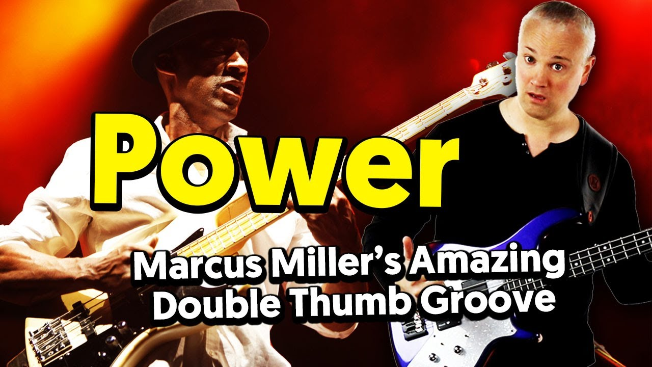Amazing Slap Bass! - Power (Marcus Miller) Main Riff Tutorial - YouTube