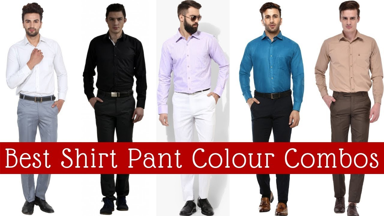 Suit and shirt colour combinations