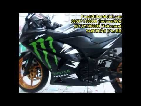 0858 7133 6000 (indosat) Wrapping Sticker Motor Cutting Sticker Ninja Vixion R15 Cbr