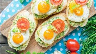 Бутерброды с перепелиными яйцами/отличный рецепт бутербродов/