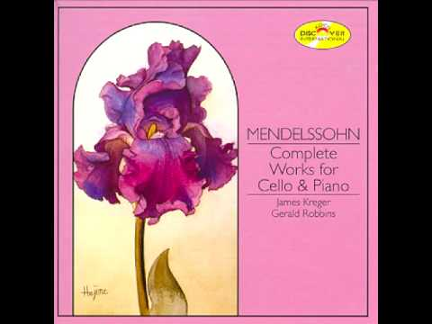 James Kreger Plays Mendelssohn Song Without Words for Cello