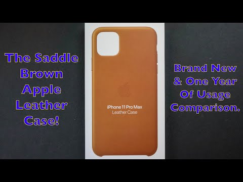 The Saddle Brown Apple Leather Case For The IPhone 11 Pro Max! My Favorite Case!