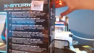 Unboxing du casque X-1000  X-STORM de SUBSONIC