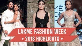 Kareena Kapoor Khan, Shahid Kapoor, Mira Rajput: Lakme Fashion Week 2018 highlights