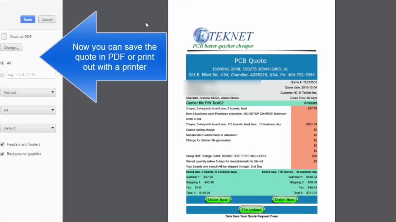 Pcb Quote Simple Start Of Eteknet Online Pcb Quote  Youtube