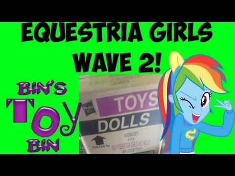 EQUESTRIA GIRLS Wave 2! New Fluttershy & Rainbow Dash MLP Dolls! By Bin's Toy Bin