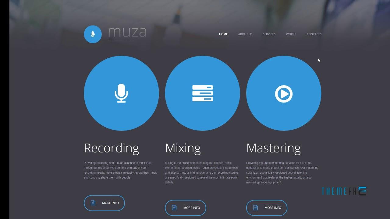 Music Production Co Website Template TMT | Free Template Brigham Joj ...