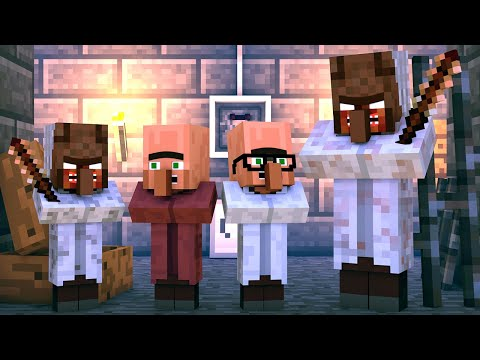 Granny vs Villager Life: FULL ANIMATION - Granny Horror Game Minecraft Animation thumbnail