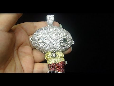 Fully iced out cartoon custom pendant youtube fully iced out cartoon custom pendant aloadofball Images