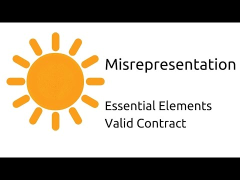 What Is Misrepresentation | Other Essential Elements Of A Valid Contract |  CA CPT | CS