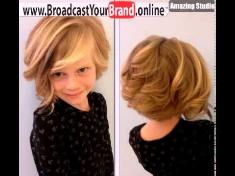 Little Girls Curly Bob Hairstyle Youtube