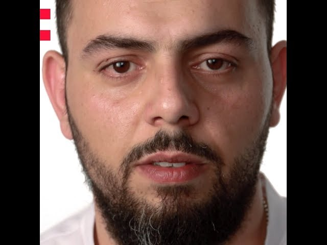 Frame of a video of Aghiad Malik speaking about the Odyssey project
