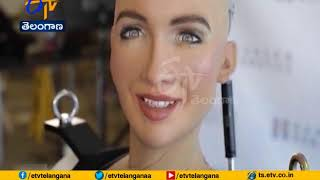 Love All and Take Love from All | Sophia the Robot Tells India | at Her Speech