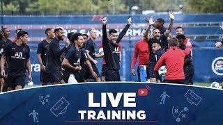 Les 15 premières minutes d'entraînement  #PSGlive
