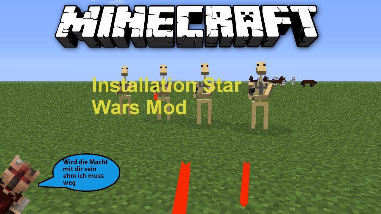 Minecraft Star Wars Mod Installation German YouTube - Minecraft spielen star wars
