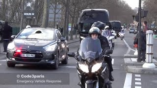 Police Motorcade of World Leaders to Paris Unity Rally