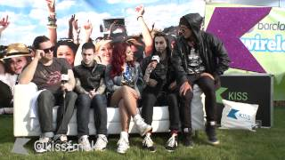 Modestep are backstage at Wireless with KISS FM (UK)