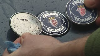 SAAB 9000 Fix Your Faded Hood Emblem Badge - Similar to 900, 9-5, and 9-3(A short, but detailed video about the problems and solutions for faded SAAB hood emblems and badges. Replacement options are covered as well as a DIY ..., 2016-01-13T09:57:50.000Z)