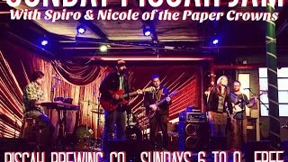 Sunday Jam late set w/ Paper Crowns @ Pisgah Brewing Co. 4-30-2017