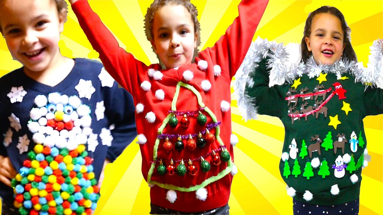 DIY UGLY Christmas Jumper For Save The Children Christmas Jumper day ...
