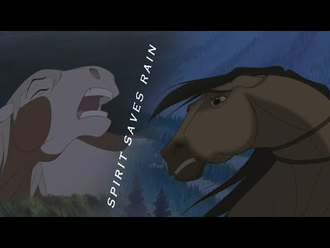 Spirit Stallion Of The Cimarron - Spirit saves Rain (HD)