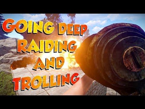 Going DEEP, RAIDING and TROLLING my TEAMMATES | Rust