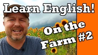 Learn English on the Flower Farm!  English Video with Subtitles