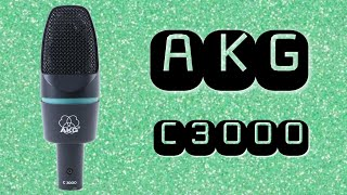 AKG C3000 Condenser Microphone Test / Review