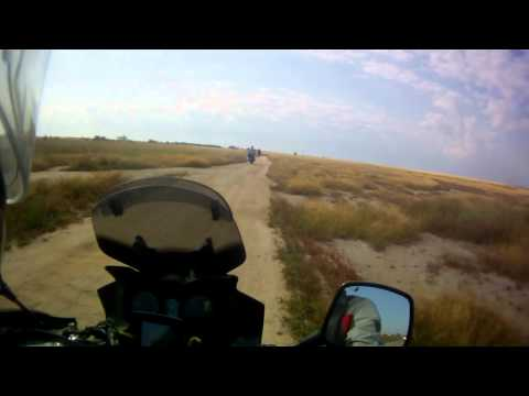 Suzuki DL 650 V-Strom off-road ride on Arabat spit, part 3