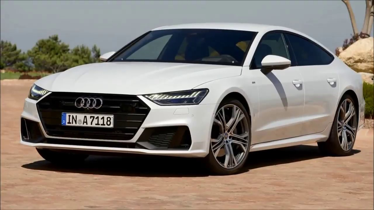 2019 New Audi A7 White-Exterior And Interior