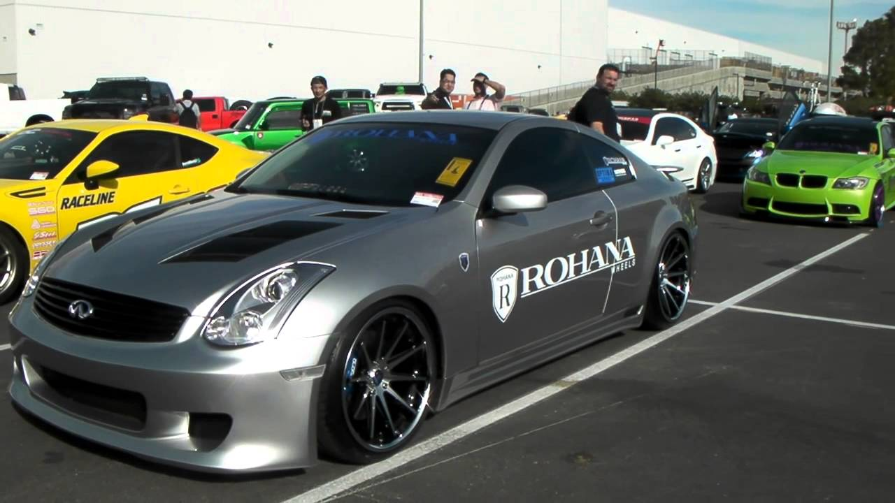 Infinity g35 coupe on 19 inch rohana rc10 wheels youtube vanachro Images