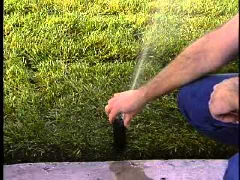 Pop-up sprinkler head adjustments - Information, how to