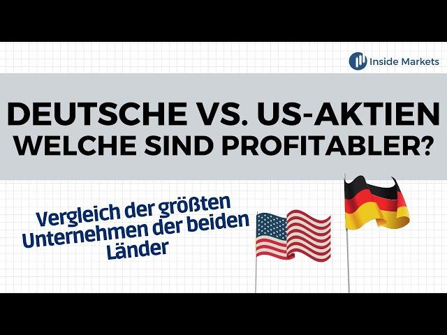 Deutsche oder US-Amerikanische Aktien - Welche sind profitabler?