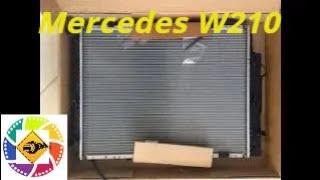 Mercedes W210 3.2l замена радиатора Replacing the radiator