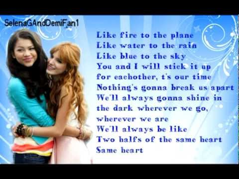 Bella Thorne & Zendaya - Same Heart (Full Song LYRICS)