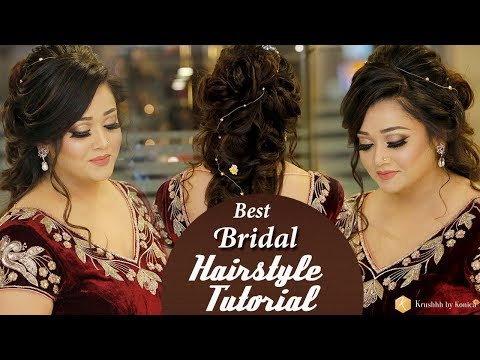 Best Bridal Hairstyle Tutorial Video | Step by Step Trendy Bridal Hairstyles | Krushhh by Konica