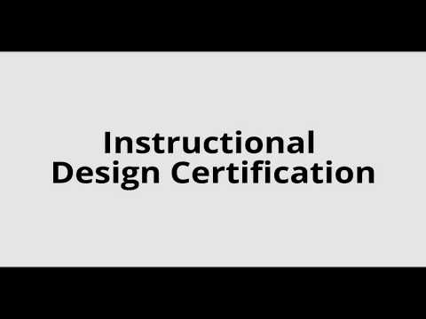 Instructional Design Certification -  Snippet from the course