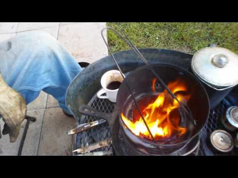 Cooking Off Grid: Portable Wood Gasifier Camp Stove