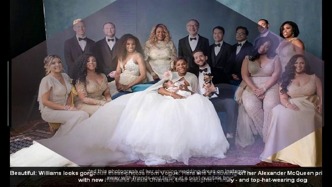 Serena williams reveals dress post wedding party youtube for Post wedding party dress