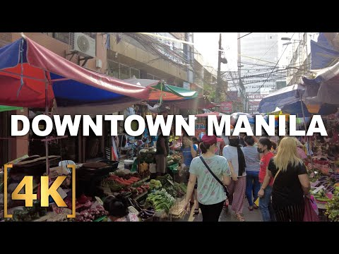 Exploring Downtown Manila | Quiapo, Binondo, Recto, Divisoria | 4K | Virtual Ride Tour Philippines