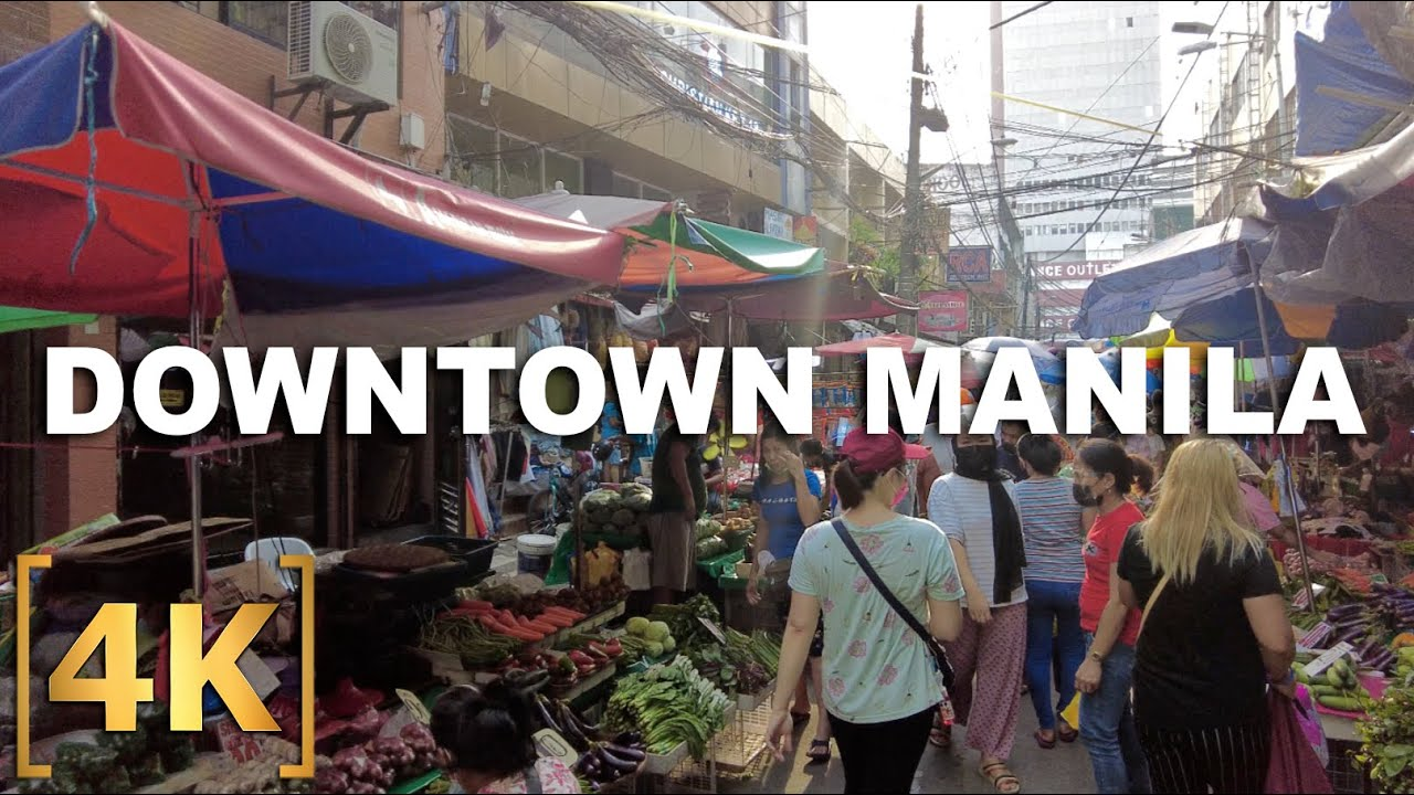 Download Exploring Downtown Manila | Quiapo, Binondo, Recto, Divisoria | 4K | Virtual Ride Tour Philippines