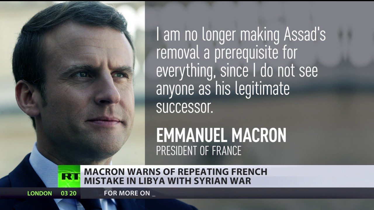 'Assad's removal isn't pre-condition for everything' - Macron on Syrian crisis
