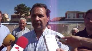 Ayuntamiento Segovia. Inauguración campo fútbol 7 en Madrona 4/9/2013 (2)