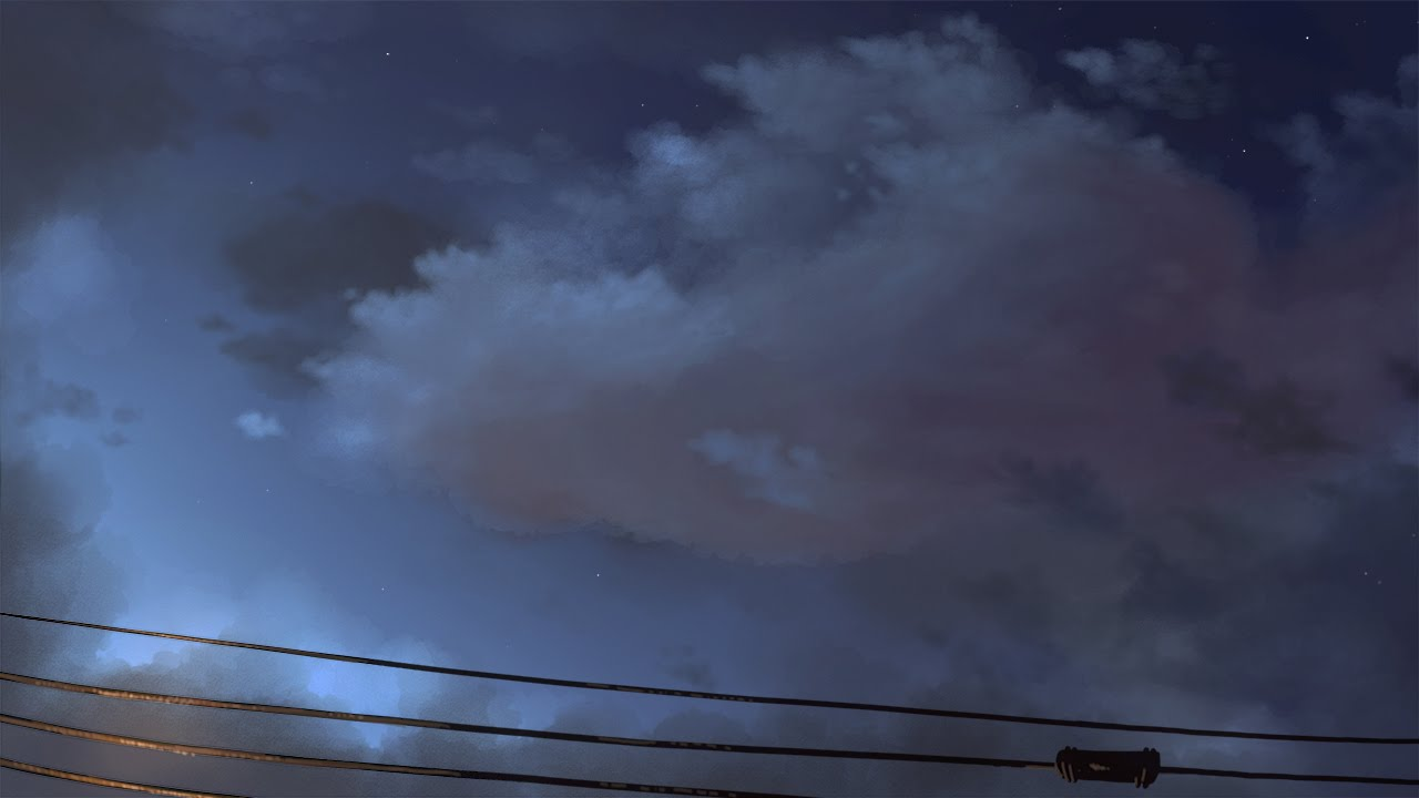 how to draw night sky with clouds 4k youtube