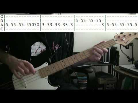 bass guitar lesson Marshall Tucker band can't you see tab