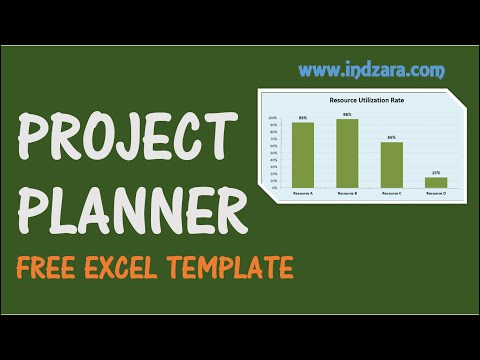 Project Planner Excel Template - Free Project Plan Template For Project Scheduling
