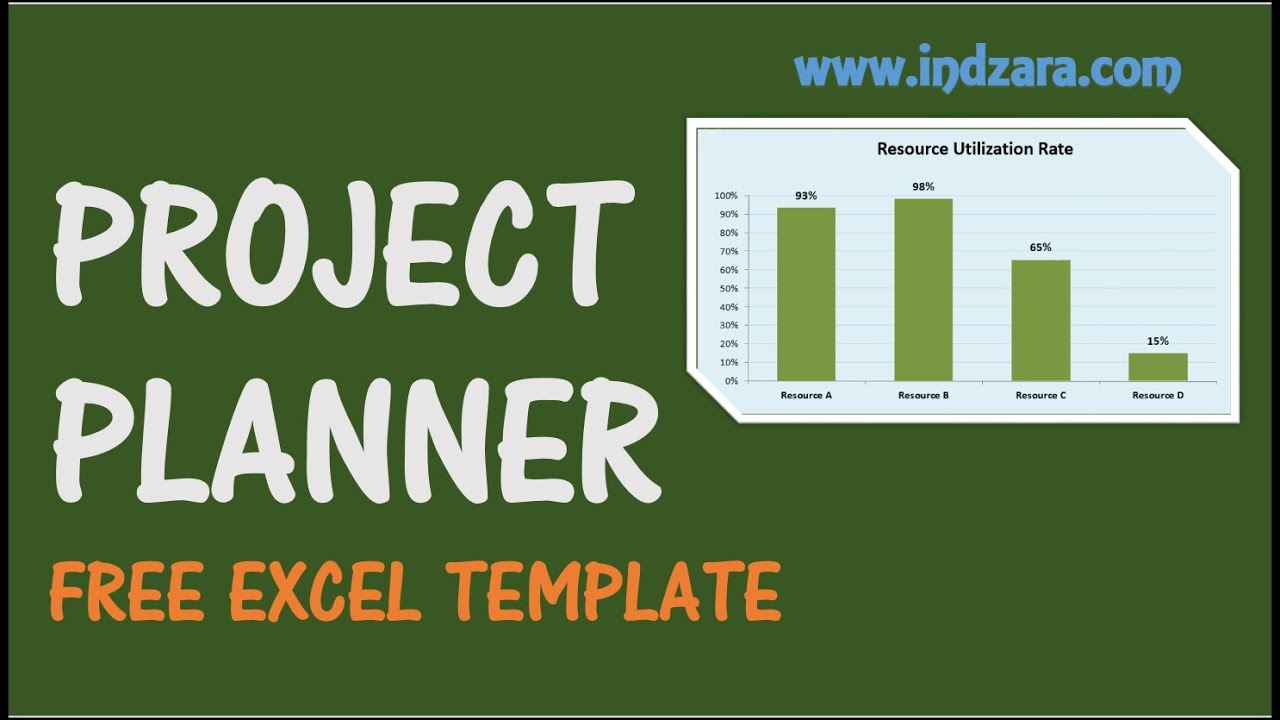 Project Planner Excel Template - Free Project Plan Template for ...
