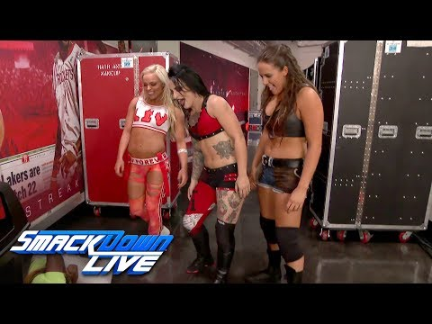 Ruby Riot, Liv Morgan & Sarah Logan emerge with a surprise attack: SmackDown LIVE, Nov. 21, 2017