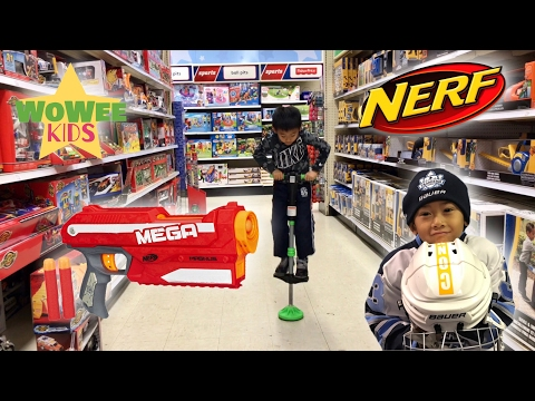 NERF MEGA MAGNUS | Pogo Jump Stick | Toys R Us After A Hockey Game